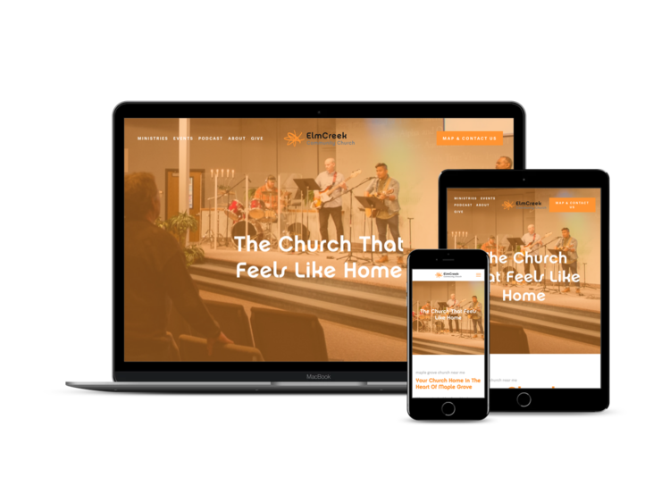 Before and After Responsive 1-Day Website for Maple Grove Church