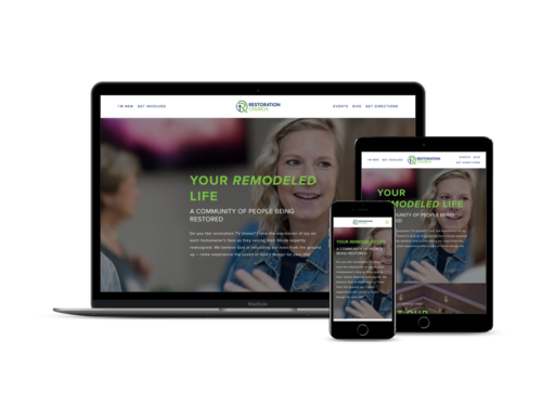 before and after 1 day website build for anoka church - Church Website Design Ideas
