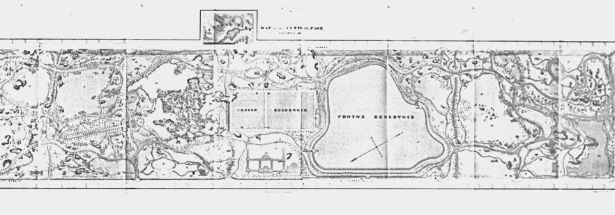 Detail from an original sketch of the Greensward Plan by Calvert Vaux.