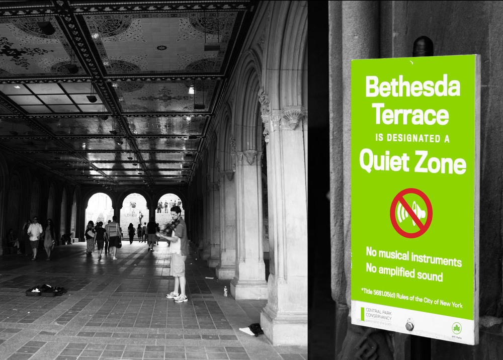 Bethesda Terrace 'Quite Zone', Central Park, NYC