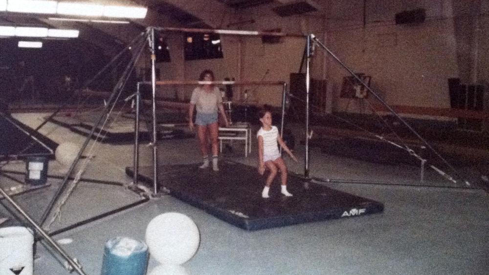 Practice Makes...Practice: D.C. Gymnastics, Albany, NY, 1985ish.