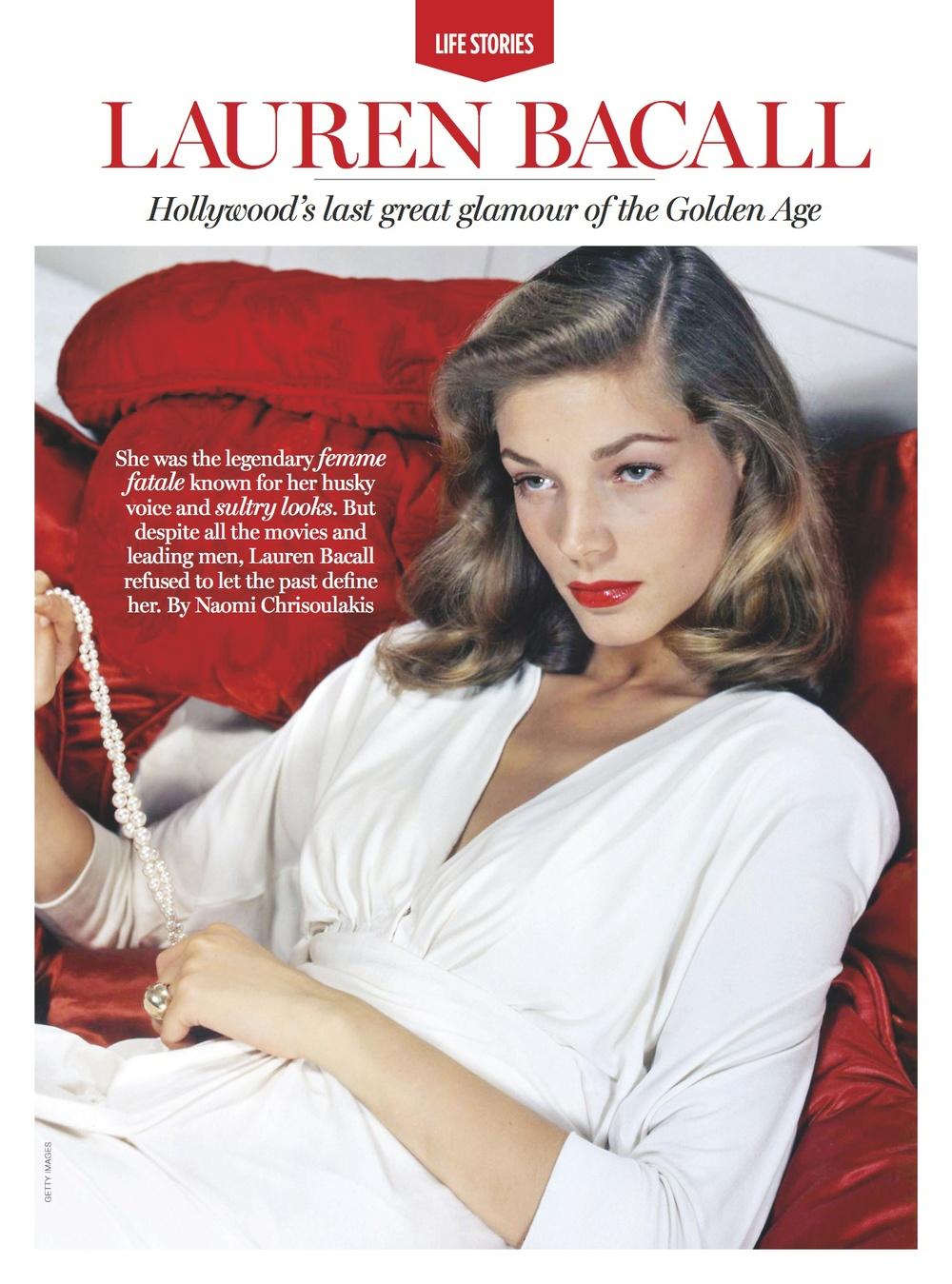 Lauren Bacall Life story