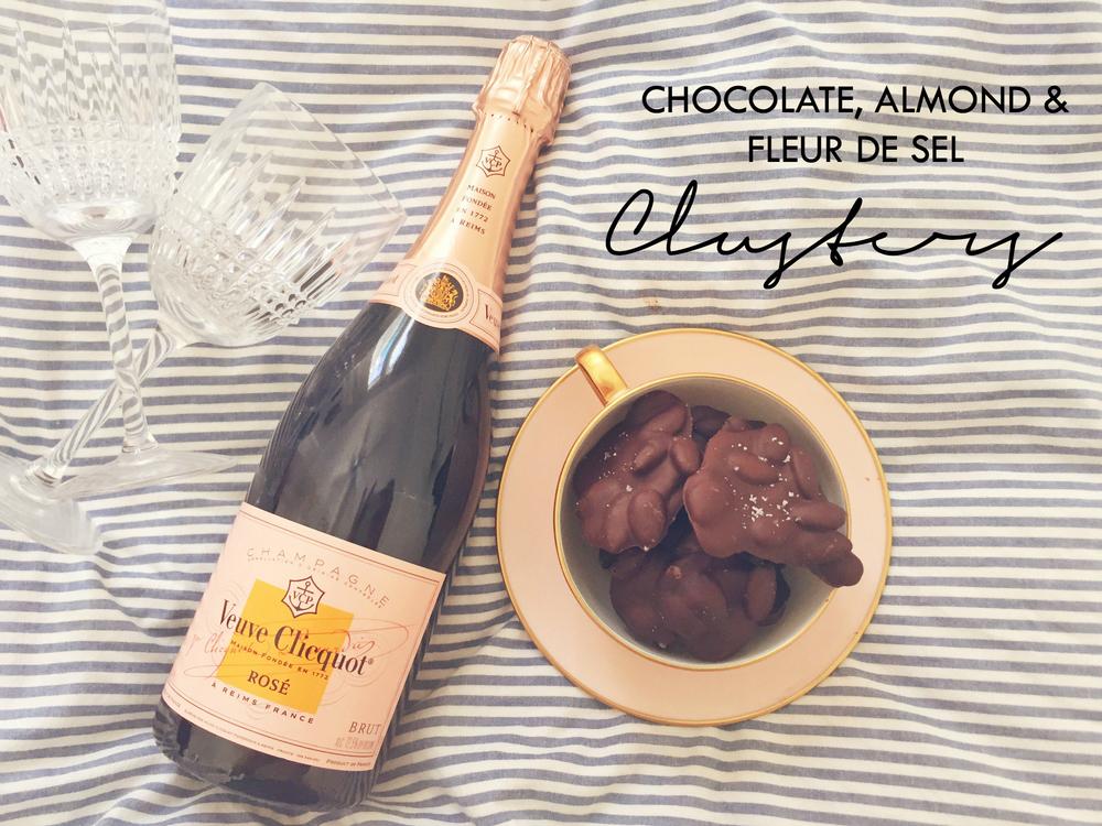 Chocolate, almond & fleur de sel clusters | cremelifestyle.com