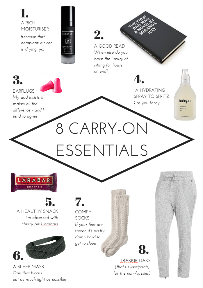 8 Carry On Essentials