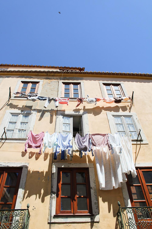 Lisbon clothes outside
