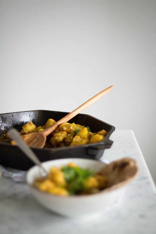Cauliflower & Potato curry with chapati