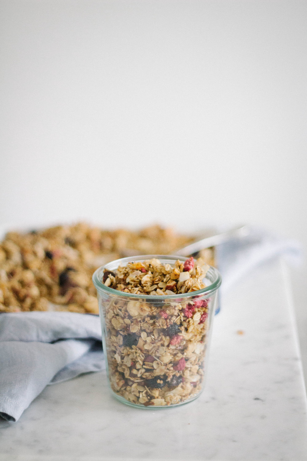 Pear & chocolate winter granola