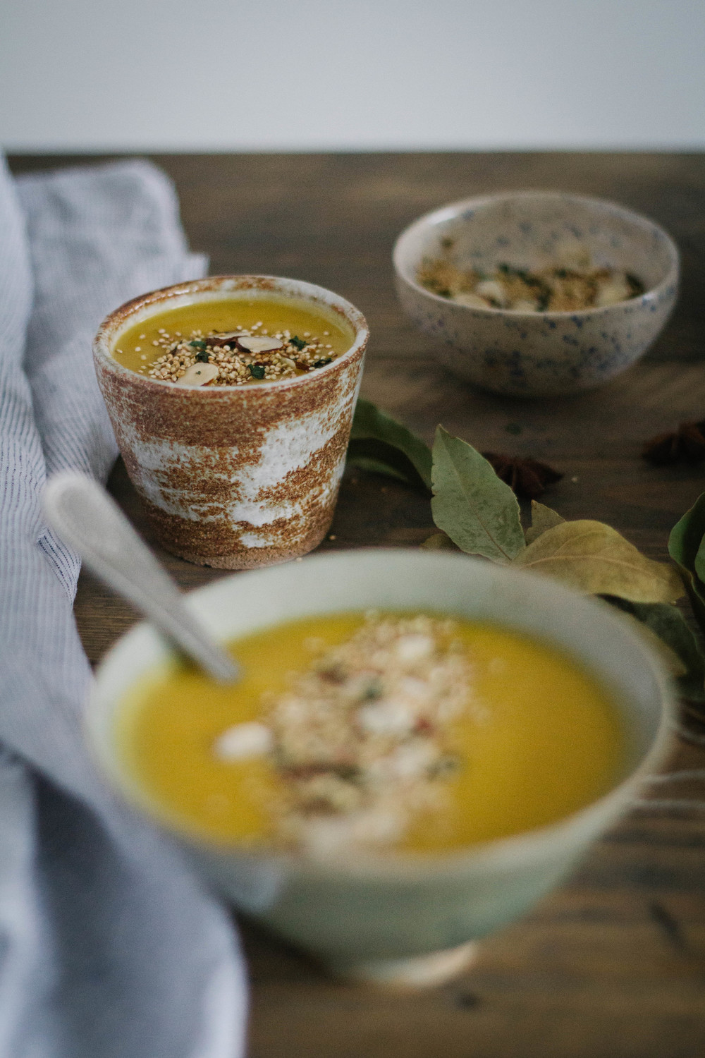 Sweet potato & jerusalem artichoke soup with anice