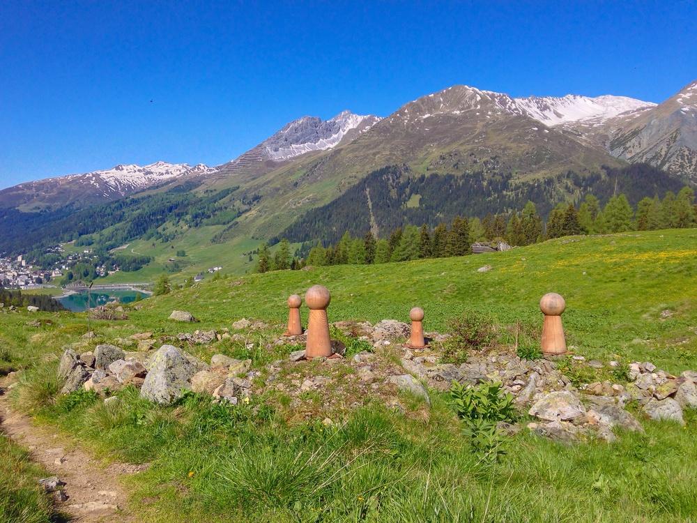 die wanderung  - unterwegs auf der alp drussetscha