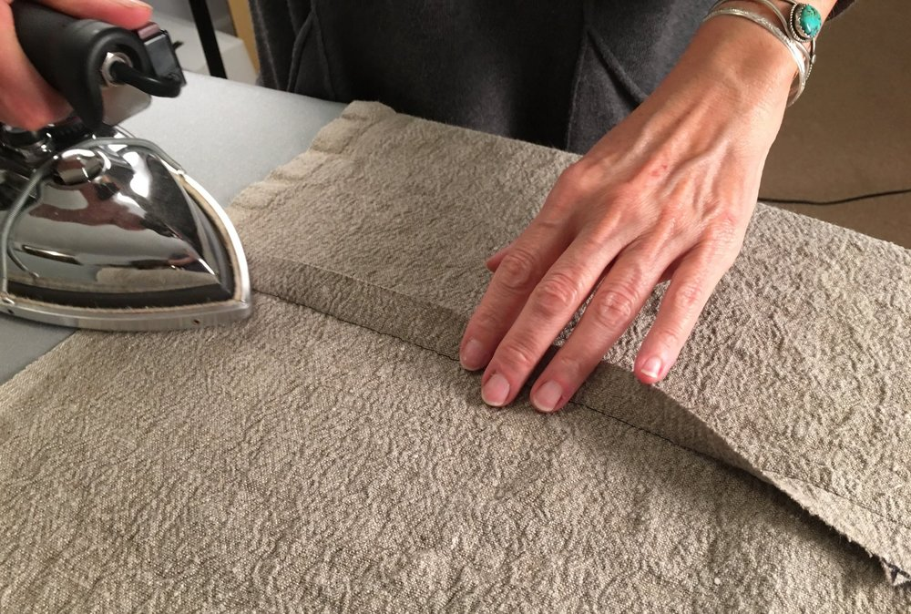Pressing matters to set a seam as you craft your garment.