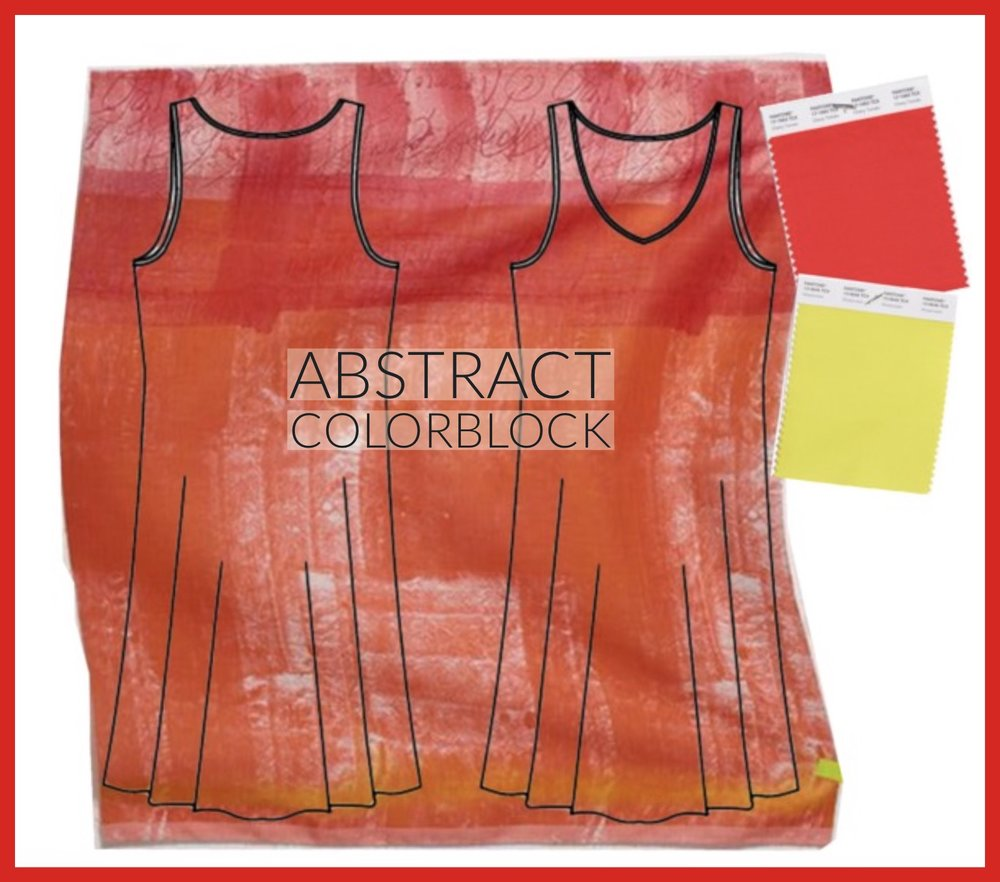 Who doesn't love colorblock? My personal favorite. A perfect pairing of Pantone's Spring color collection, the  Ann Normandy Design Slip Dress Sewing Pattern  and this amazing linen fabric from Miss Matatabi.