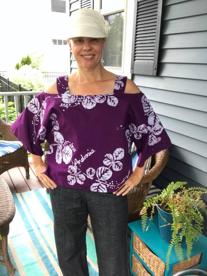 Ann Normandy Design Cold Shoulder. Off the Shoulder Crop Top PDF Sewing Pattern.