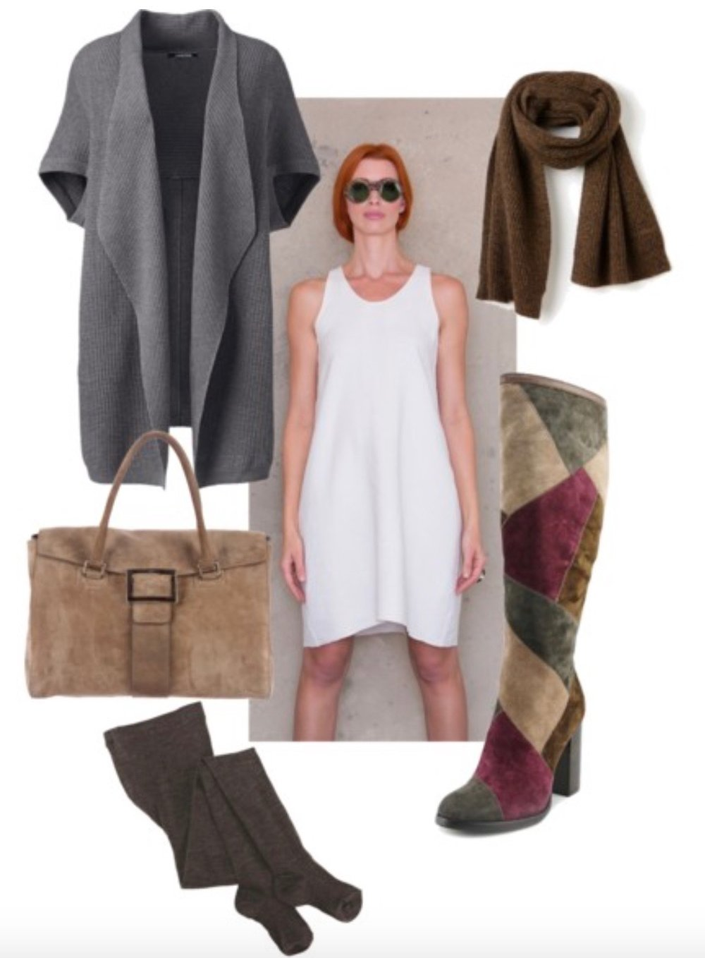 Ann Normandy Design's sewing patterns can easily transition to cooler seasons with layering and a change of accessories. -