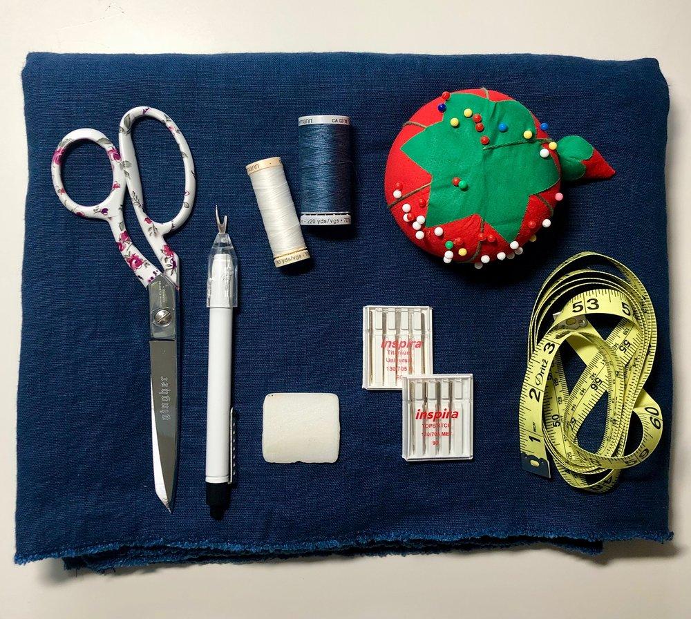 Ann Normandy Design Sewing Supplies List