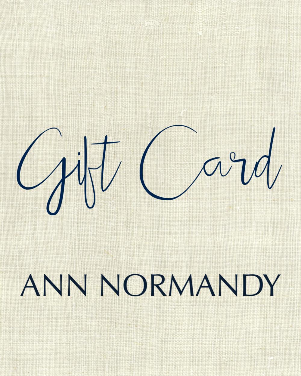 12. Ann Normandy Design Gift Card