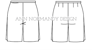 Burmuda Shorts Sewing Pattern, by Ann Normandy Design