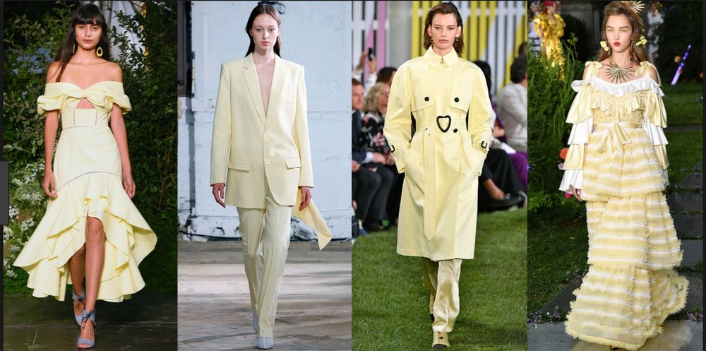 Marie Claire showing the lovely pale yellow on the Spring 2019 runways.