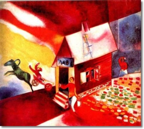Elijah Taken in Chariot (Chagall, 1913)
