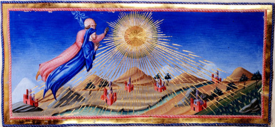 Giovanni di Paolo,  Paradiso  Canto 10.40  Dante and Beatrice Ascend to the Heaven of the Sun  (c.1450)