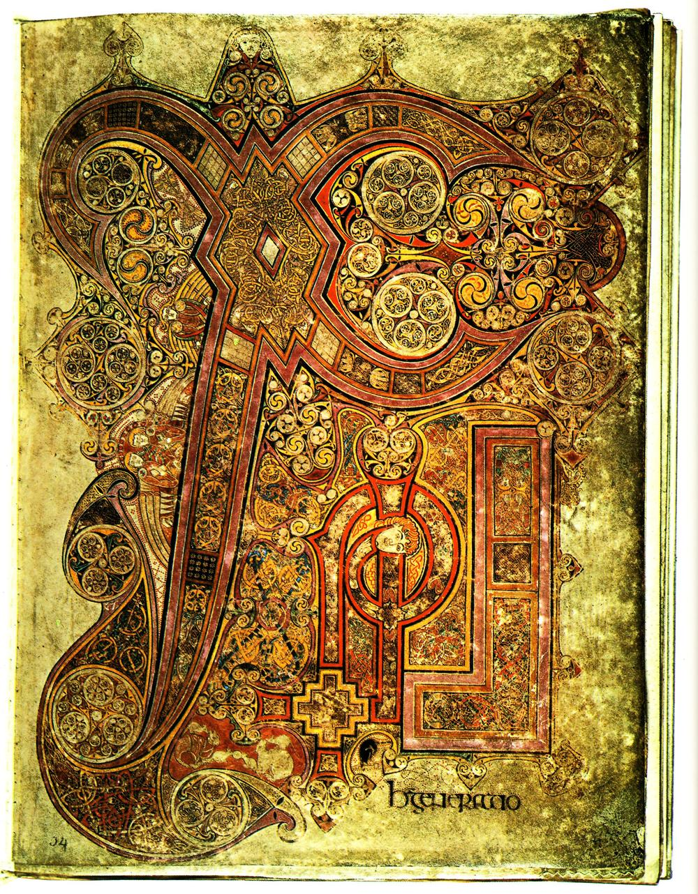 The Chi-Rho monogram from  The Book of Kells .