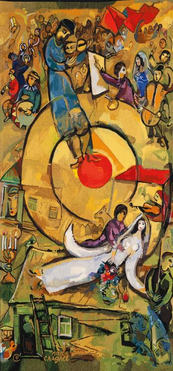 "Marc Chagall, ""Liberation,"" the third in a triptych, 1937-52."