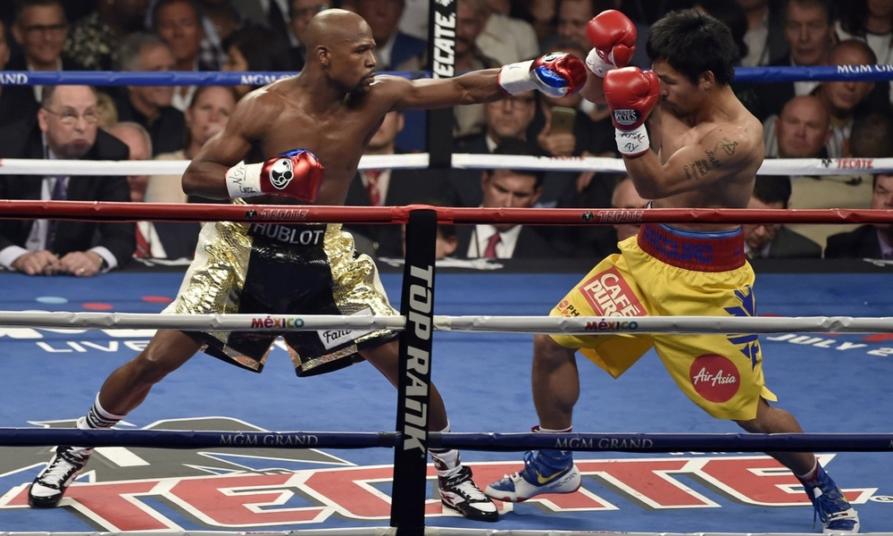 The Mayweather-Pacquiao fight was one of the biggest pay-per-view events in history. Photograph: UPI /Landov / Barcroft Media/UPI /Landov / Barcroft Media
