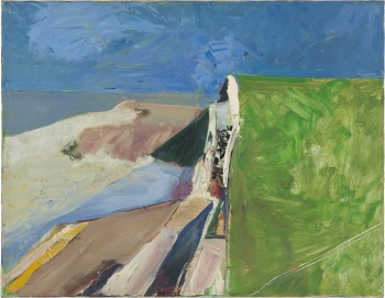 Seawall, Oil on canvas, 1957. @The Richard Diebenkorn Foundation.