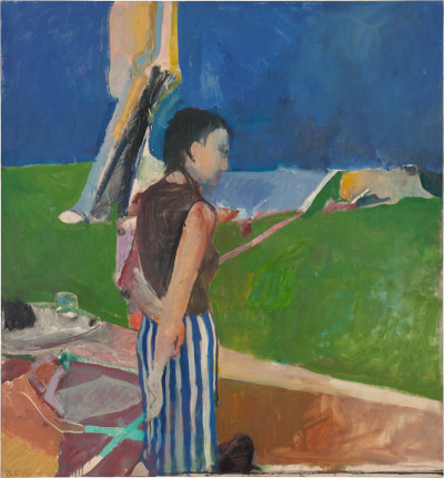 Girl On a Terrace, Oil on canvas, 1956. @The Richard Diebenkorn Foundation.