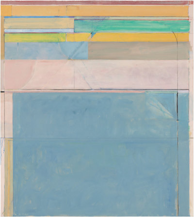 Ocean Park #116, Oil on canvas, 1979. @The Richard Diebenkorn Foundation.