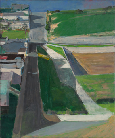 Cityscape #1, Oil on canvas, 1963. @The Richard Diebenkorn Foundation.
