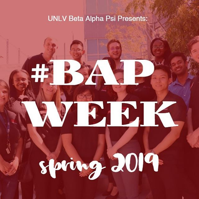 Want to win prizes for showing off your BAP spirit? This is your chance! Starting Monday, 1/28 be on the lookout for a daily #BAPWeek post. As soon as the post of the day is up, you have one (1) week to send your best #BAPWeek daily theme photo to social@unlvbap.org with your Instagram handle or tag us! A daily winner will be reposted starting next Monday, 2/4. If you have any questions, dm us or email Johana, our social director (social@unlvbap.org)! Happy #BAPWeek!  #BAPWeek Themes: - Mentor Monday 👍 - Team Tuesday 👯‍♀️👯‍♂️ - Warm Wednesday 🧤🧣 - Throwback Thursday 👶🏼 - Formal Friday 💃🏻👔