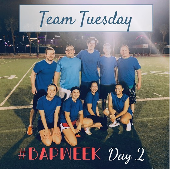 Day 2 of #BAPWeek is Team Tuesday! 💪✨ Being a part of BAP give you the opportunity to be part of a team! As a BAP member, you will have the chance to participate in different intramural sports each semester. This spring we will be participating in outdoor soccer (2/19-3/14) and grass volleyball (4/15-4/25)! If you're interested, you can sign-up through our BAP Application due on 1/31 at 6pm. Share your favorite Team Tuesday picture to social@unlvbap.org or tag us and a winner will be chosen for next week's Team Tuesday.