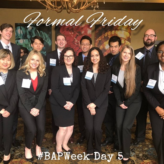 Day 5 of #BAPWeek is Formal Friday!  Shoutout to our last year leadership team rocking the professional/formal outfits at last year's regionals! Share your favorite Formal Friday picture to social@unlvbap.org or tag us and a winner will be chosen for next week's Formal Friday.