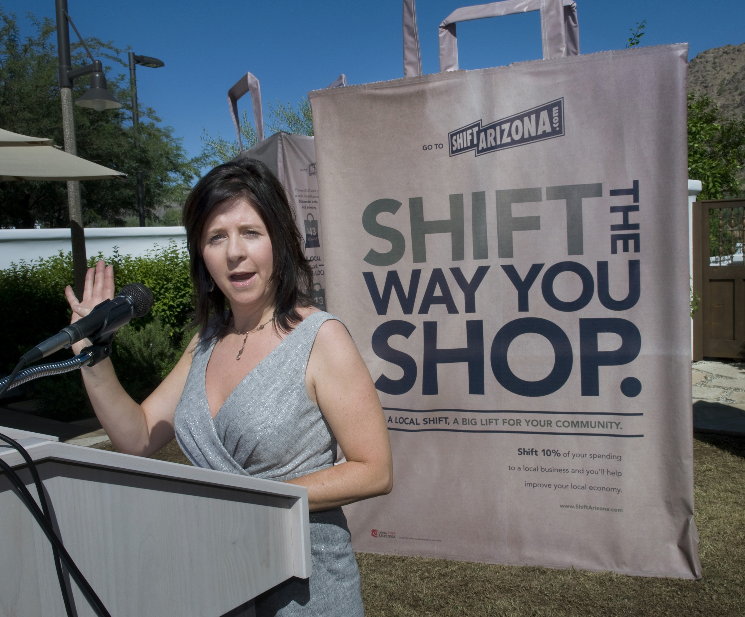Kimber Lanning talks about the power of a 10% shift in the way you shop. Photo courtesy of Rick D'Elia of D'Elia Photographic
