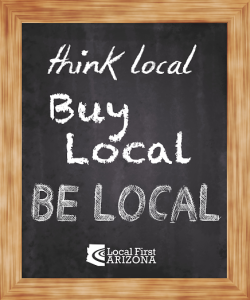 think local buy local be local chalkboard
