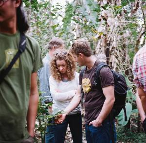 Anna and David on one of their trips to meet coffee growers.