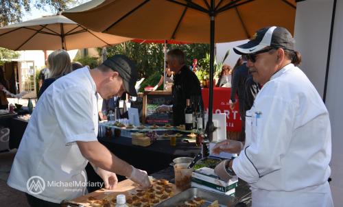 Casino Del Sol preparing delicious tastings. Photo credit: Michael Moriarty