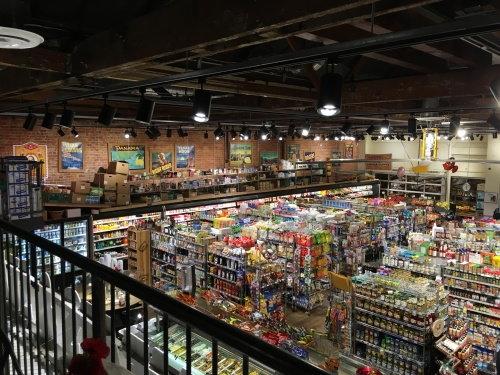 Jonny Gibson's Downtown Market has a unique feel and layout from traditional grocery stores.