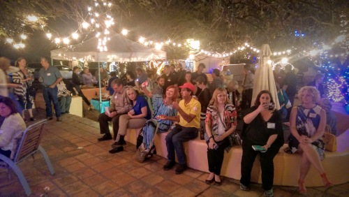 We had a great turnout in the beautiful Many Hands Courtyard.