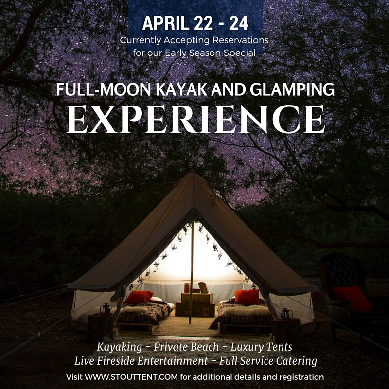 Register for Stout Tent's next Glamping Experience.