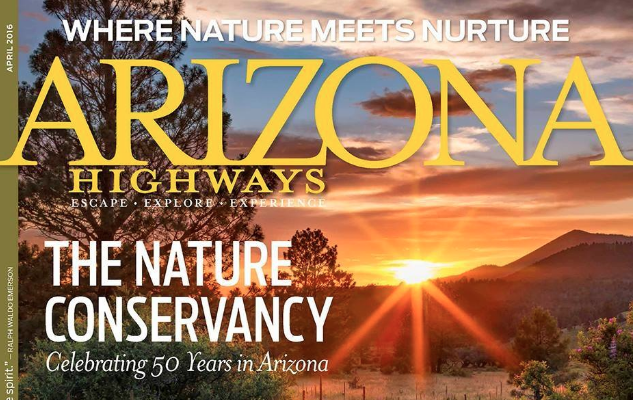 Arizona Highways Cover sunset