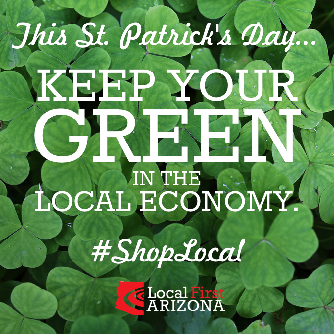 St patricks day shop local