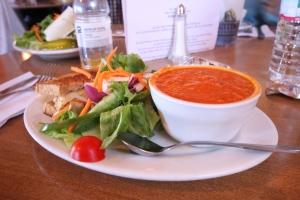 post-race lunch, a delicious vegetarian reuben!