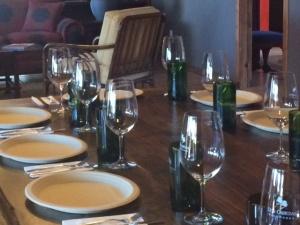 Dinner setting at Dos Cabezas