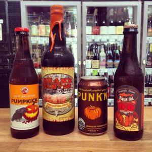 Pumpkin options at Tap and Bottle, Tucson.
