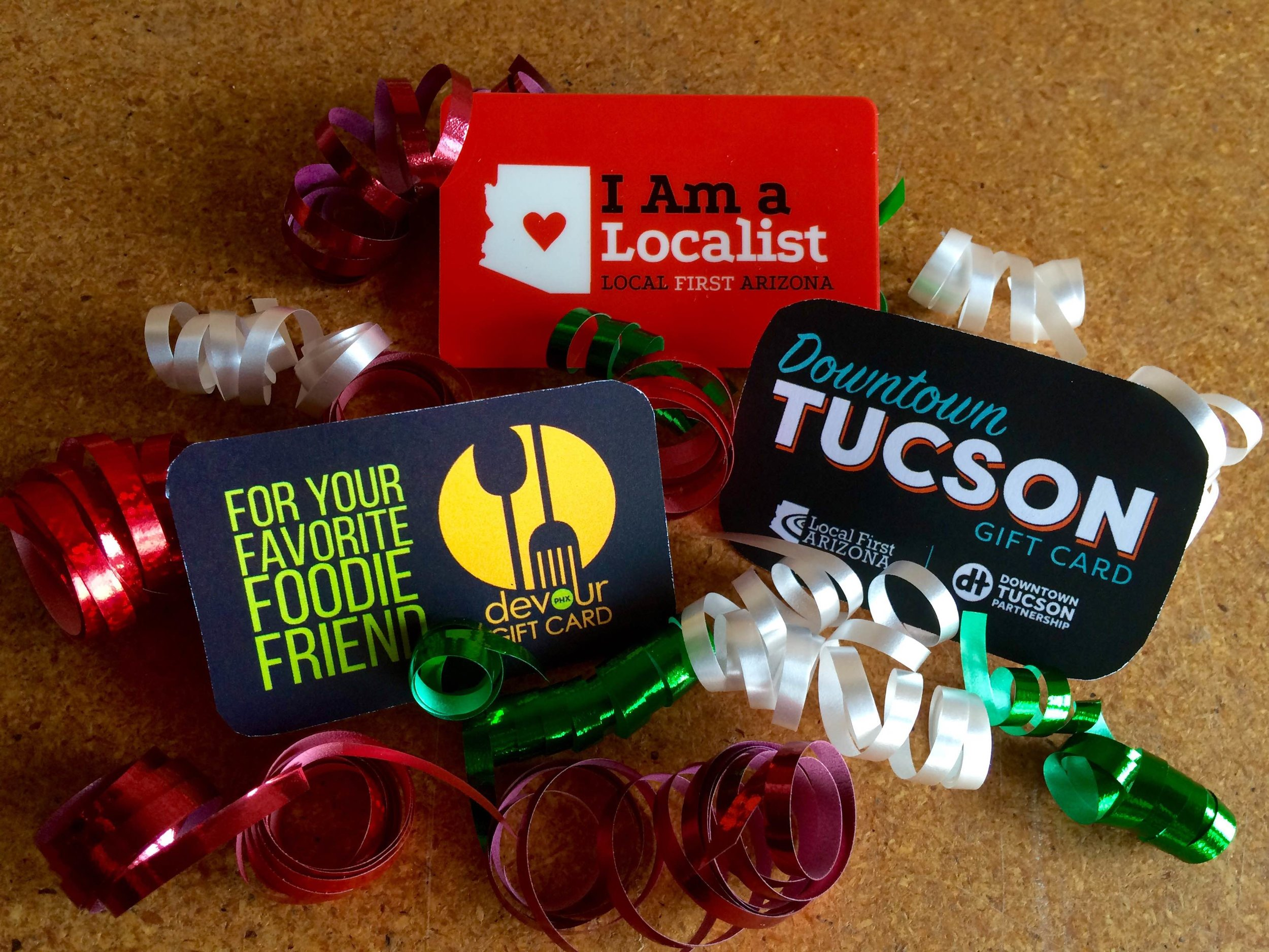 Buy Local Month 2015 LFA Gift Cards Photo