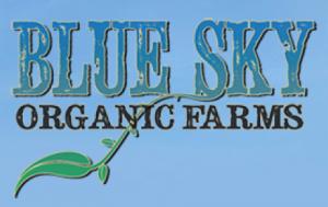 Blue sky organic farm logo