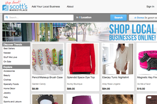 Scotts marketplace site