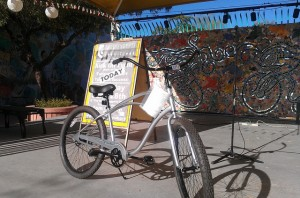 Many great prizes were given away in the Passport drawing, including this Electra Cruiser from Ordinary Bikes.
