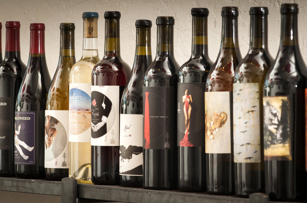 Sampling of local wines at Four Eight Wineworks in Clarkdale, Arizona. Photo: D'Elia Photographic